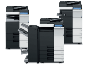 3 multi-function copier / printer systems.