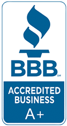 bbb A+ accredited business.